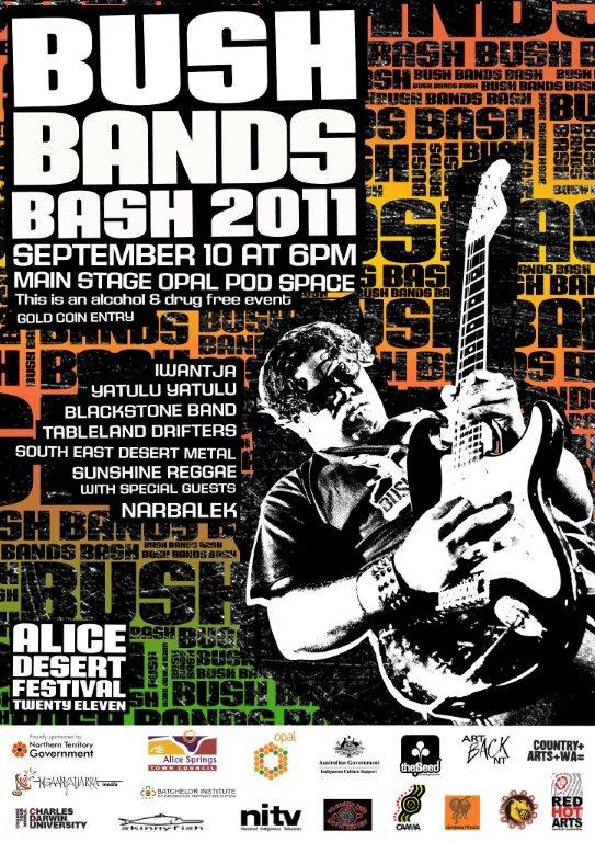 Bush Bands Bash 2011 Poster