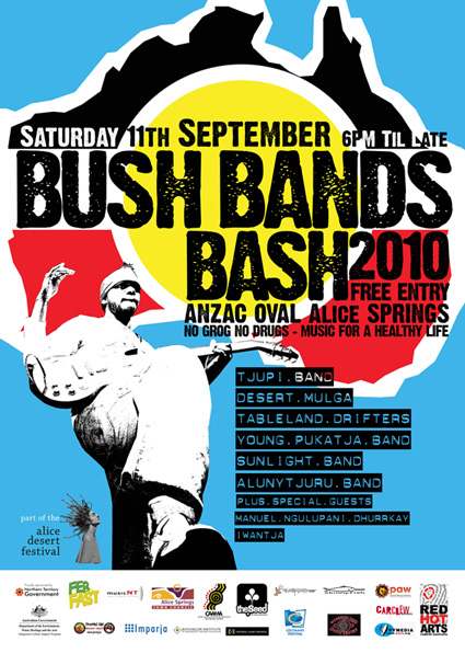 Bush Bands Bash 2010 Poster